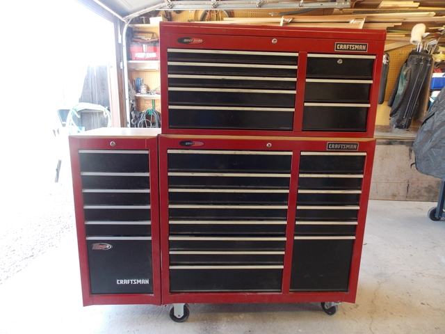 41quot CRAFTSMAN QUIET GLIDE TOOLBOX-COMPLETE WITH TOOLS
