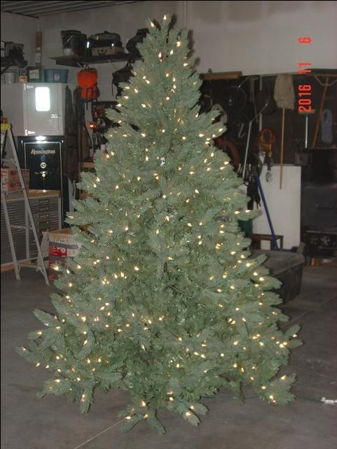 7.5 Foot Pre-lit Sequoia Pine Artificial Christmas Tree