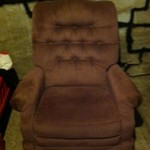 Pinkish color recliner and rocker
