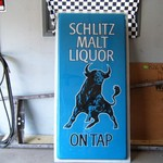 SCHLITZ MALT LIQUOR BEER ADVERTISEMENT SIGN