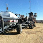 Flex Coil 5000 Air Seeder with a 2320 Cart