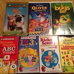 7 Children's VHS tapes