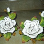 2-New 25th anniversary floral knick knack gifts