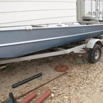 FLAT-BOTTOM BOAT FOR SALE