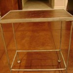 Metal and Leather End Table