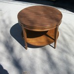 1960's/1970's Round 2 Tiered End Table