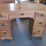 Antique Desk w/7 Drawers & Original Pulls