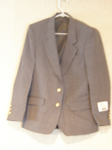 LADY EDWARDS GRAY BLAZER SUIT JACKET DRY CLEAN ONLY ...