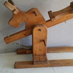 HANDCRAFTED WOODEN ROCKING HORSE / BULL STEER