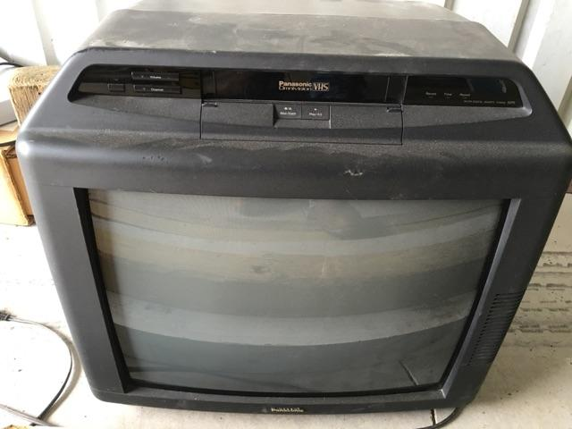 TV with VCR built in