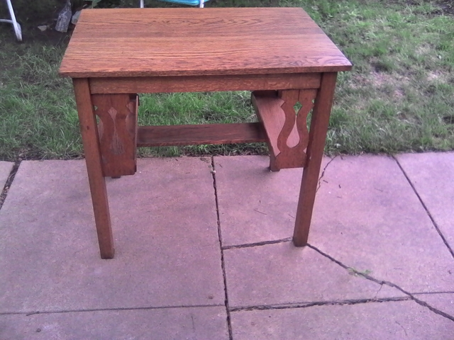 Small oak library table
