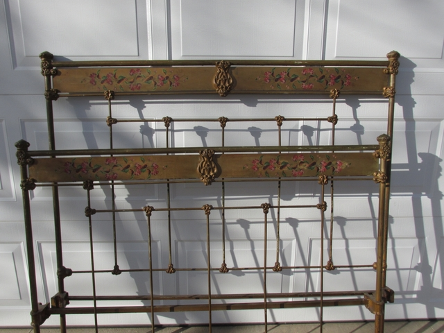 9 Antique Iron Bed Ends 2 Are Wood gtgtMoving Saleltlt