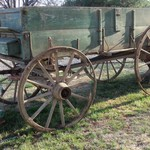 Rare Original 1845 Columbus Horse Drawn Box Wagon