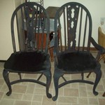 2 old chairs