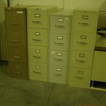 4 Drawer letter file cabinets