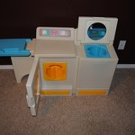 Vintage Little Tikes washer and dryer with ironing board