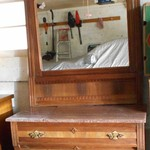 Dresser with mirror and marble top (broken)