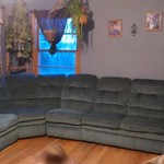 Blue sectional couch