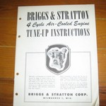 Briggs & Stratton 4 Cycle Air Cooled Engine Service Manual