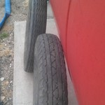 "18""  4 ply Atlas Tires New but Old. 5/25 - 5/50 - 18"