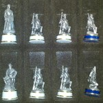 Civil War Hand Crafted Pewter Chess Set Fathers Day Gift
