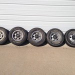 Qty 5 year 1990 Jeep Wrangler YJ Rims