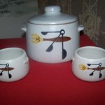 Vintage Westbend Bean Pot with 2 Mini Matching Bean pots