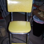 Vintage Yellow Kitchen Stool