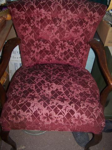 Antique Queen Anne Wing Chair With Claw Feet Price Reduced