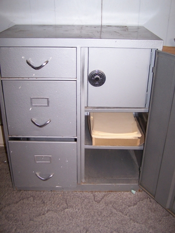 Metal File Cabinet With Safe No Key And No Combination