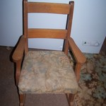 Vintage solid wood Child or doll rocking chair