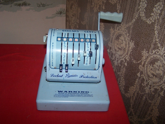 VintageAntique Paymaster Check Writing Machine with key