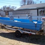 14' ALUMINUM BOAT, TRAILER, AND MOTOR