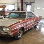 1966 coronet 440 2 dr hard top 77241 original miles