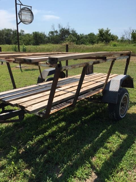 Revamped Boat TrailerGood lawn mower trailer