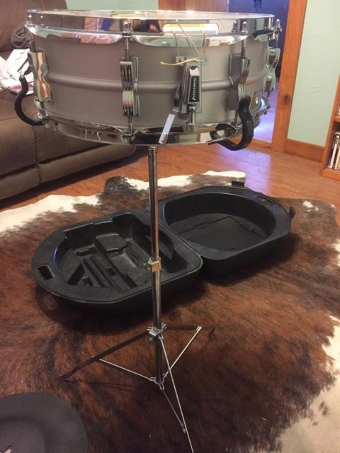 Vintage Ludwig snare drum with case
