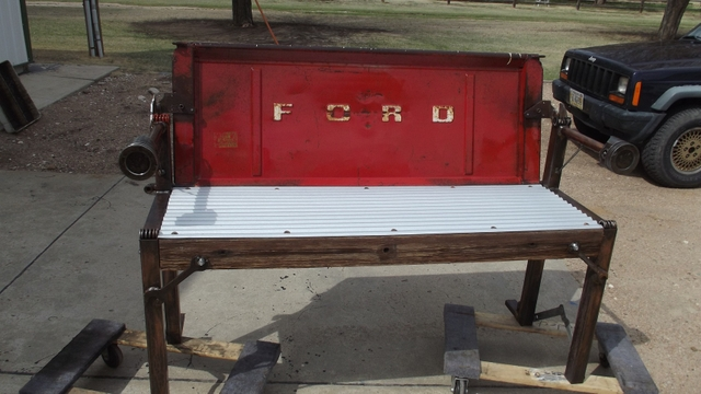 Man Cave Classifieds : Ford tailgate bench man cave nex tech classifieds
