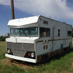 Junk camper with running motor 318
