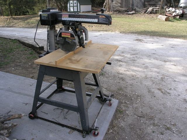 10 In Craftsman Radial Arm Saw With Stand And Mobile Base Pioneer Classifieds