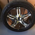 "(set of 4) 22"" chrome wheels and tires"