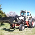 1973 CASE 1175 TRACTOR With New WOODS 3100 Front End Loader