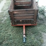 4X4 heavy duty wood trailer