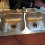 Camper kitchen sink