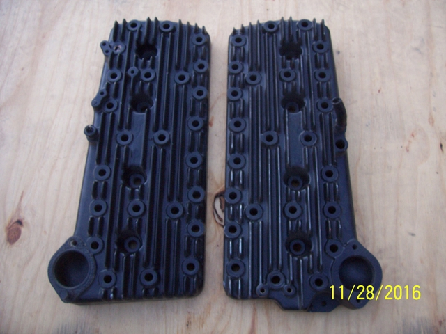 Old Ford Flathead V8 Finned Aluminum Cylinder Heads