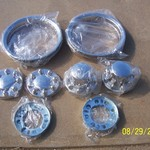 1 ton Dually Truck Stainless Wheel Trim Rings & Caps - NEW
