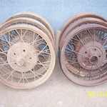 (6) Antique 1928 - 1929 Ford Model A Wire Wheels 21""