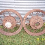 (2) Antique 1930 - 1931 Ford Model A Wire Wheels 19""