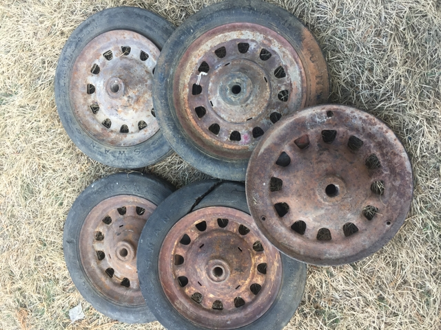Old small artillary wheels 9