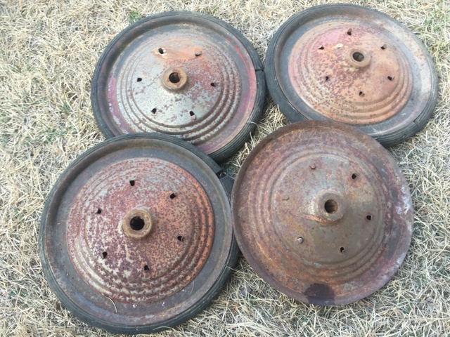 Old bee hive style wheels 10