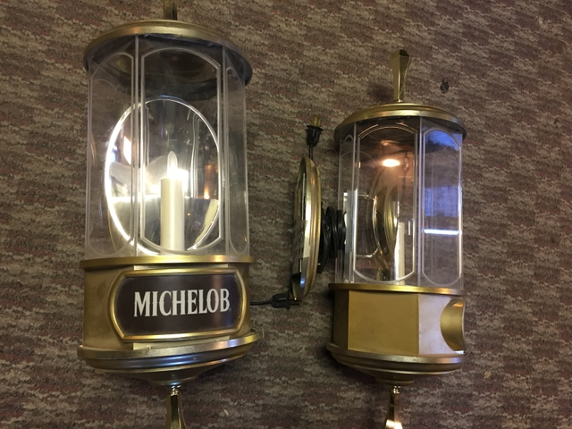 Vintage Michelob bar lights